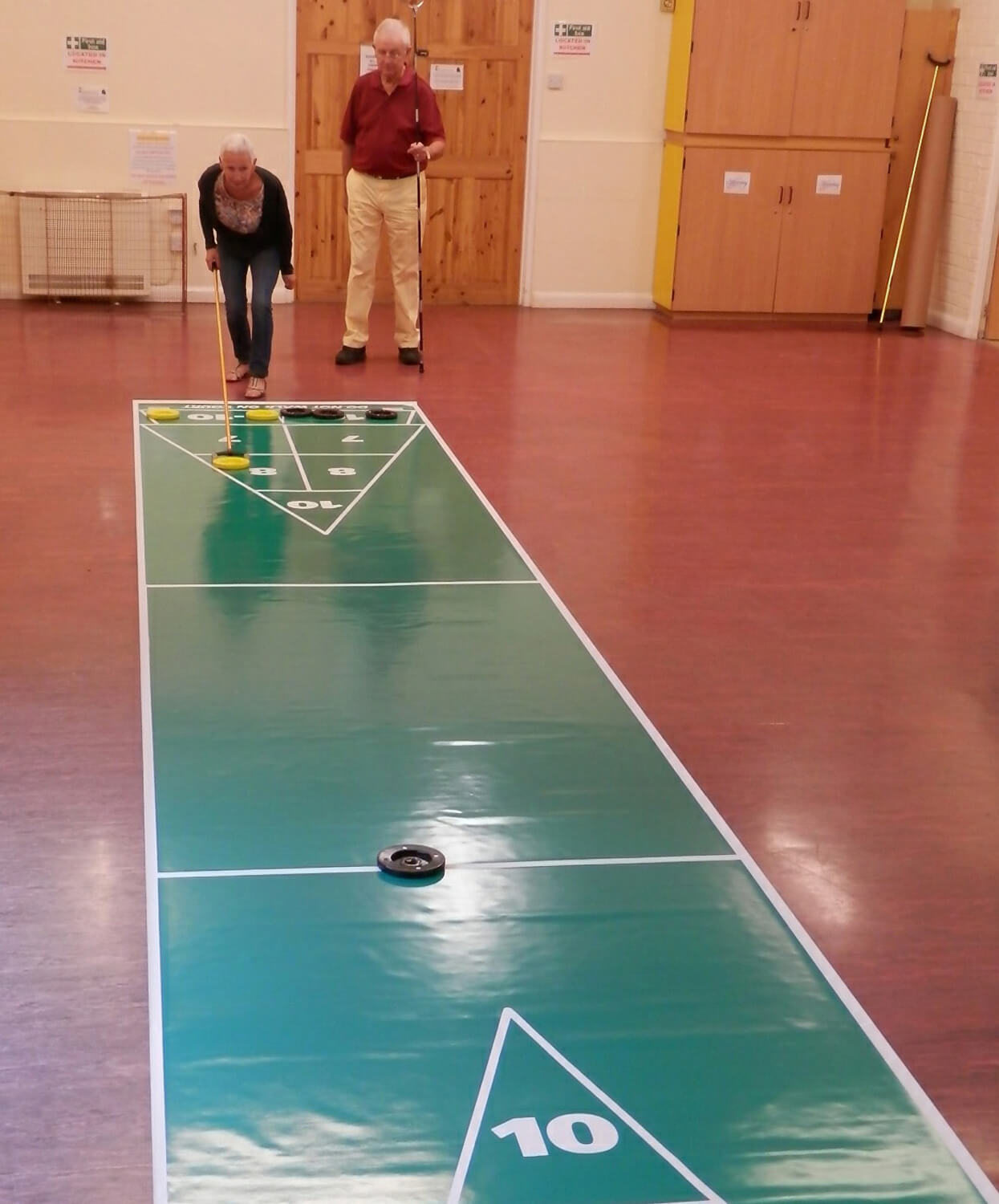 Shuffleboard Mini Roll Out Court Package Liberty Games