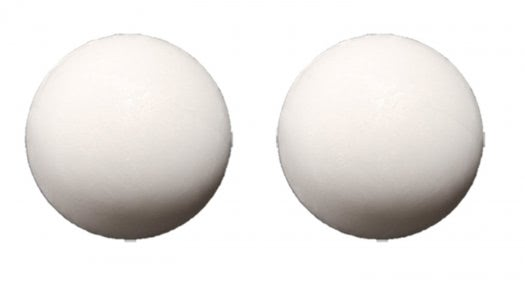 White Plastic Table Football Balls