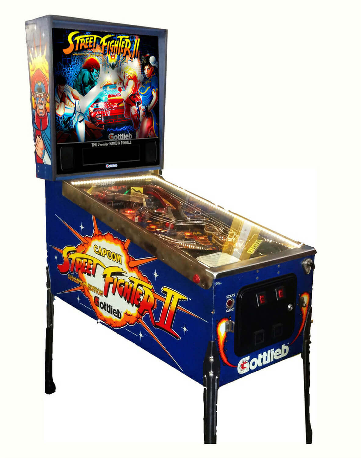Street Fighter Ii Pinball Machine For Sale Liberty Games
