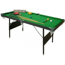 Crucible 6 foot 2-in-1 Folding Snooker & Pool Table