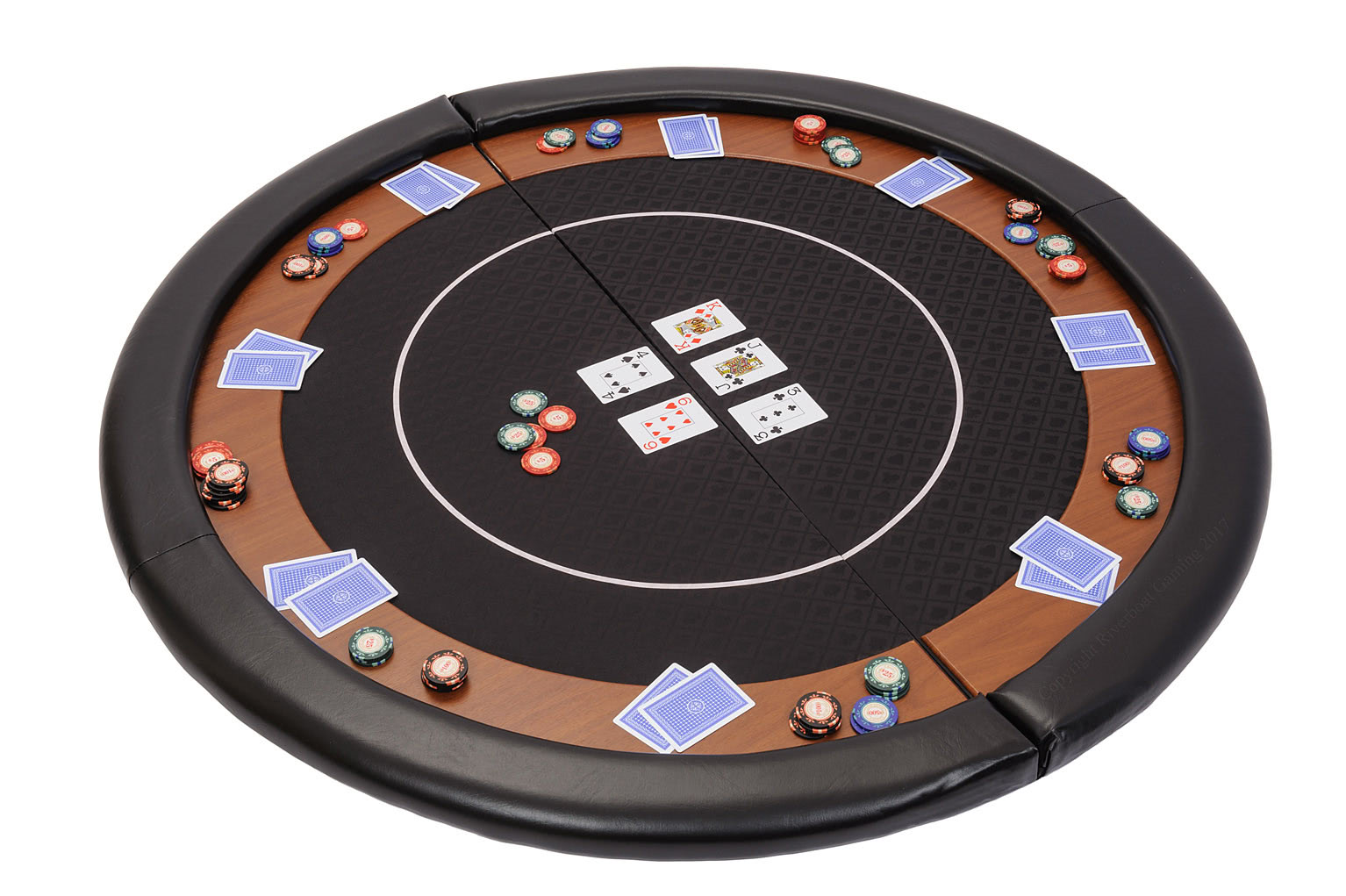 premium compact folding poker table top with carry bag
