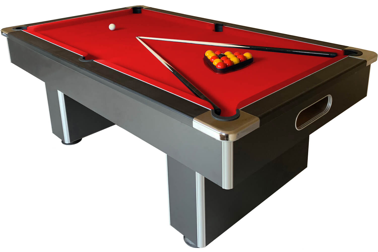 slimline slate bed pool table finish black cloth colour red for sale cape town townsville