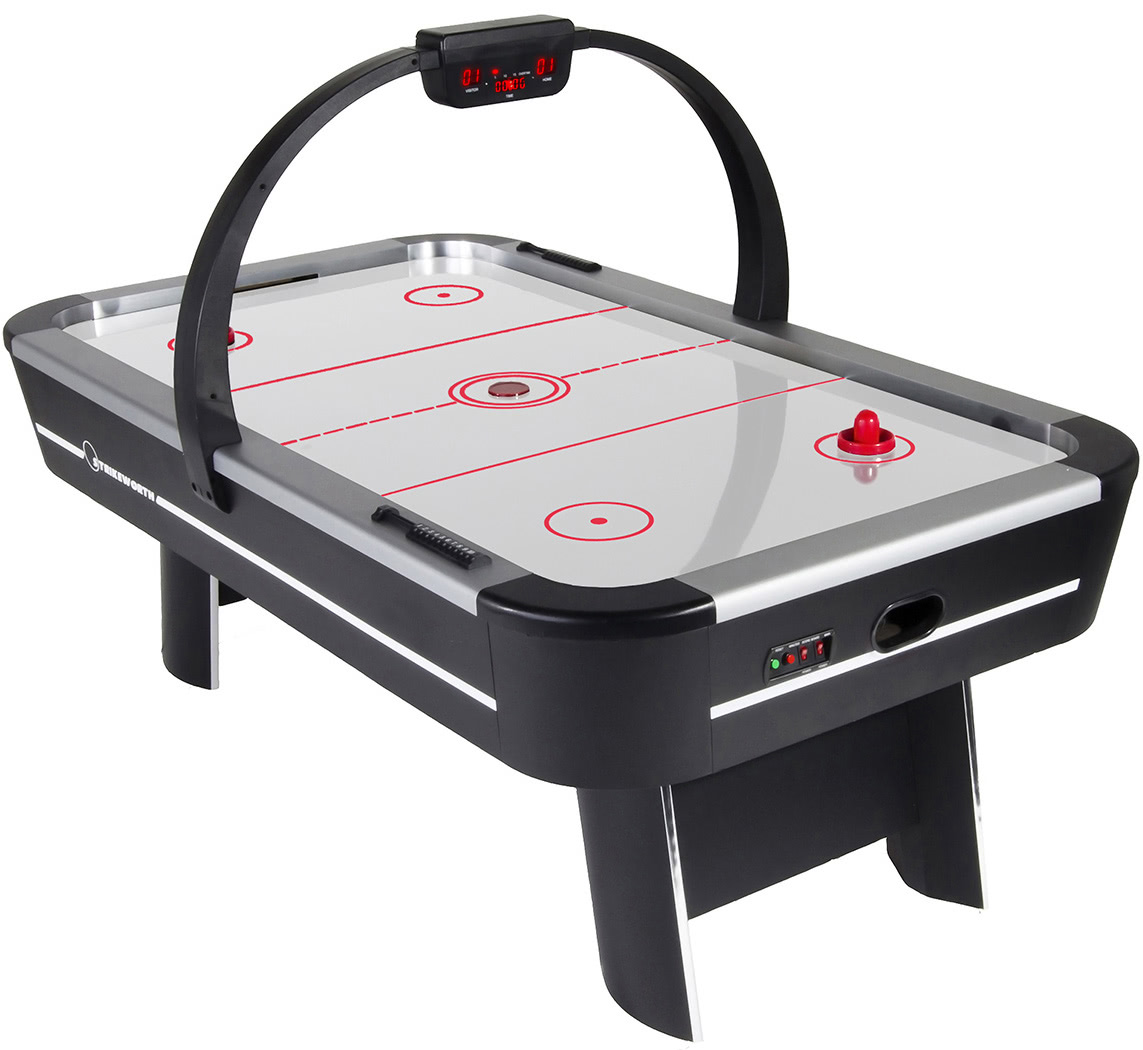 Strikeworth pro ice aluminium 7 foot air hockey table for Table hockey