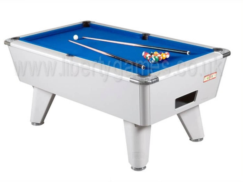 Supreme Winner Slate Bed Pool Table   Table Finish : Aluminium, Cloth  Colour : Blue