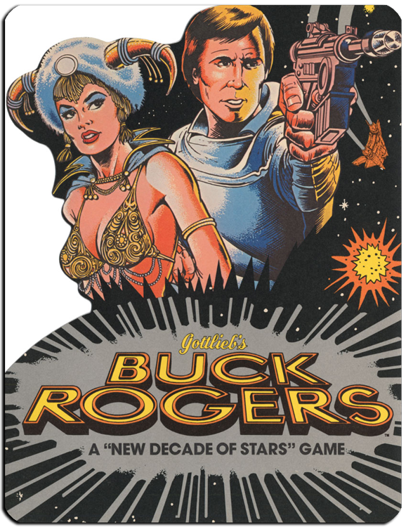 Promotional flyer for the Buck Rogers pinball machine.