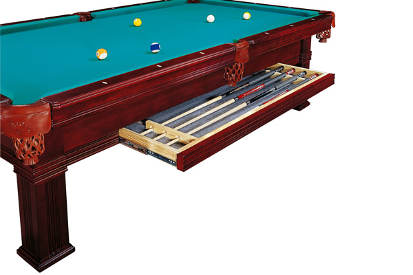 Ball drawer fitted to the Dynamic Bern traditional pool table.