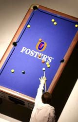 Pool Table with Fosters Cloth