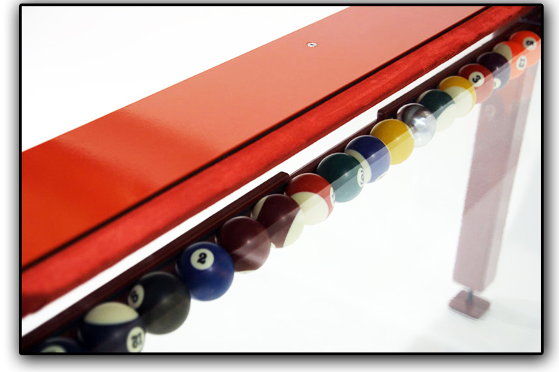 Glass ball return system on the G4 Phoenix pool table