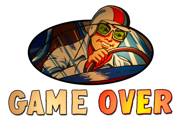 Beat The Clock pinball Game Over graphic