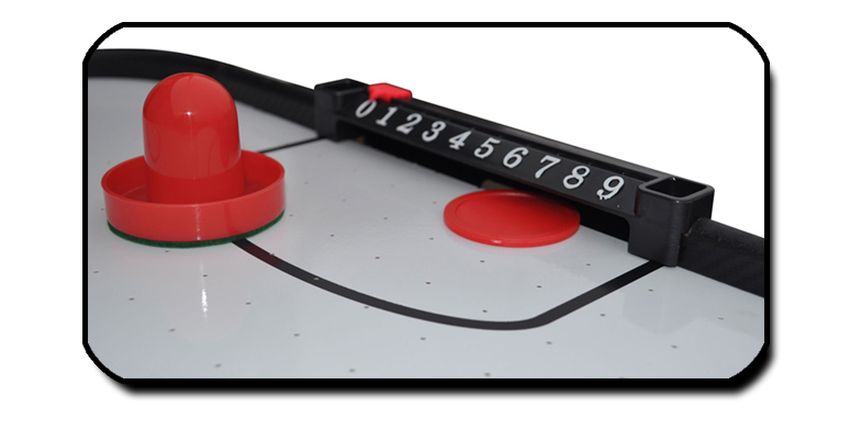 Gamesson Shark Air Hockey playfield detail.