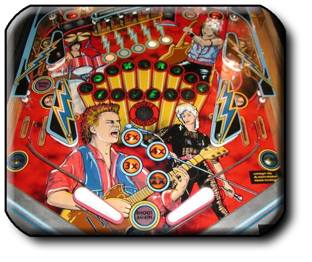 Gottlieb Rock pinball table playfield detail