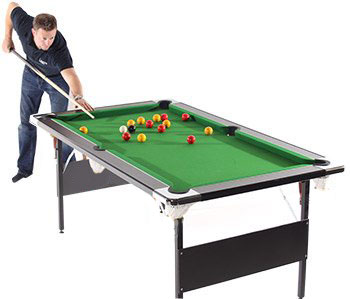 Deluxe Foldaway pool table being played