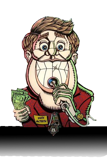 Keith McTeeth character from the Bally Game Show pinball machine