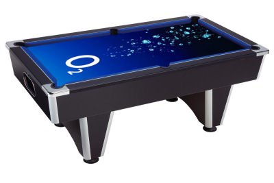 Pool Table with O2 Branding