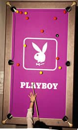 Pool Table with Playboy Branding