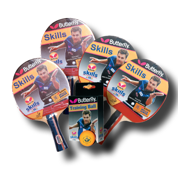 Accessory kit included with the Start Sport table tennis table.