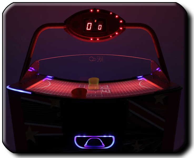 Slalom Evo air hockey table playfield profile