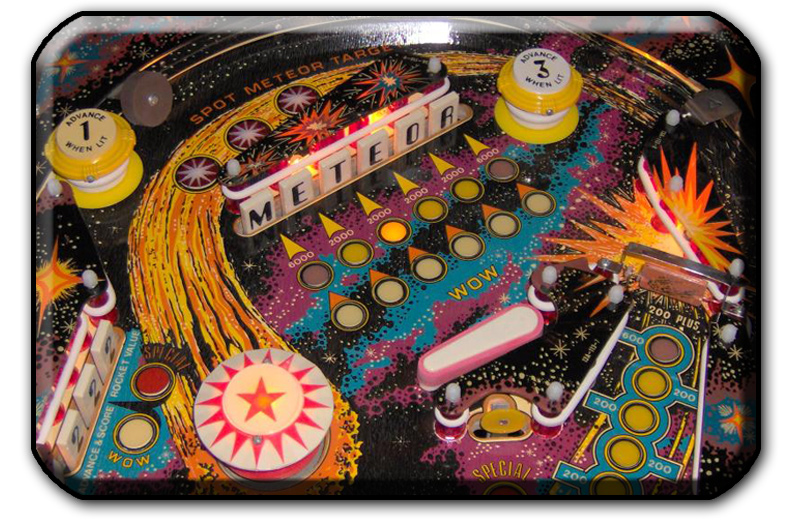 Stern Meteor pinball playfield graphic