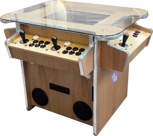 Synergy multiplay arcade cabinet in wood finish
