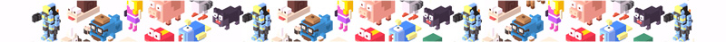 Character graphic for Crossy Road arcade machine