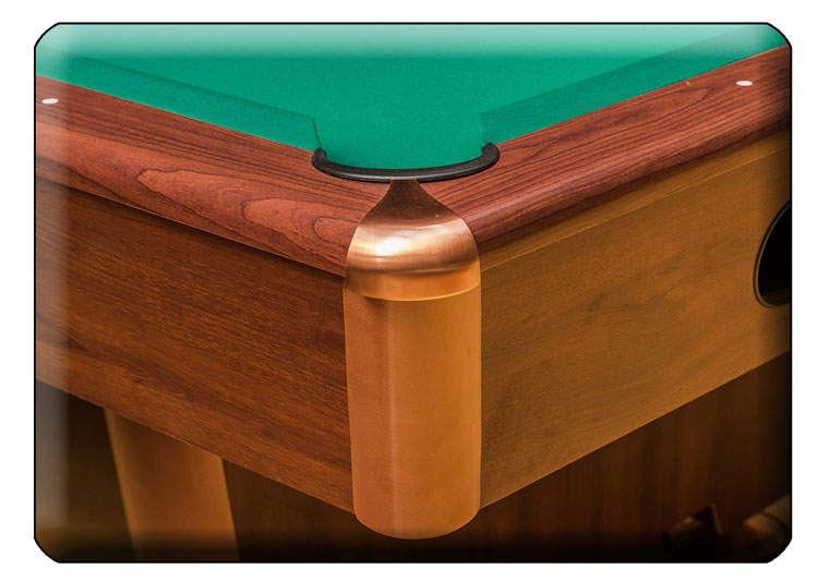 Dynamic Triumph pool table detail of corner