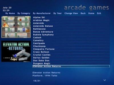 Contemporary Arcade Coffee Table - Arcade Game Menu