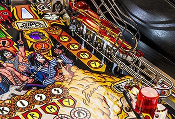 Detail from the KISS pinball playfield