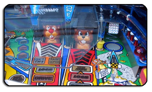 The ground squirrel characters from the No Good Gofers pinball machine