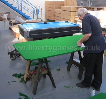 Pool table recovering liberty games for How to build a billiard table