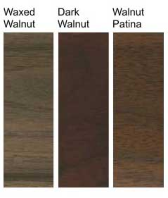 Walnut finish options for Toulet tables