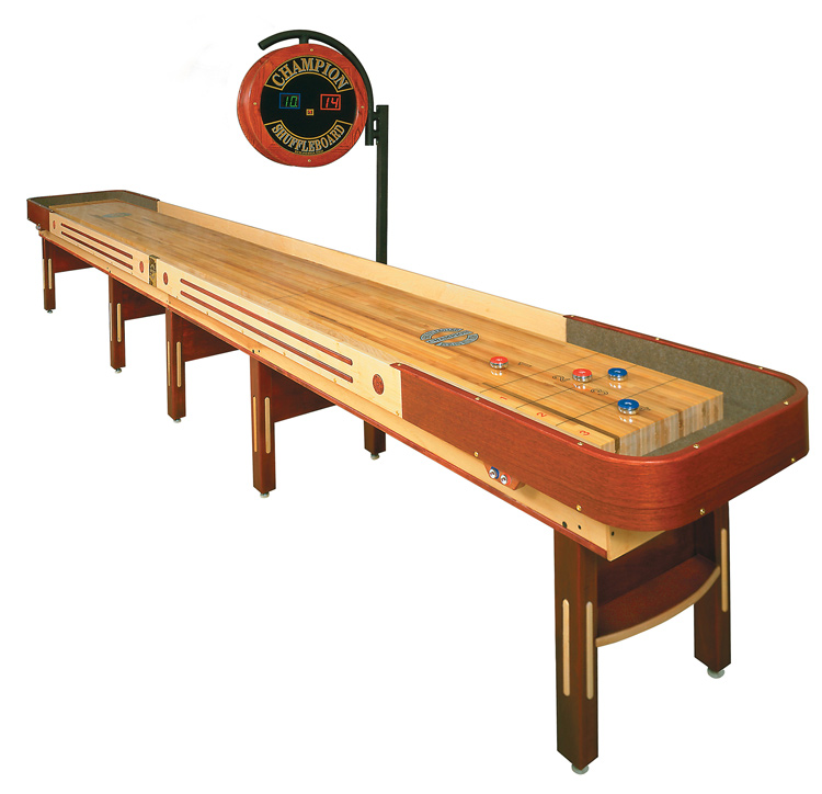 The Grand Champion shuffleboard table