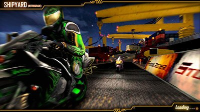 Still from the arcade game storm riders