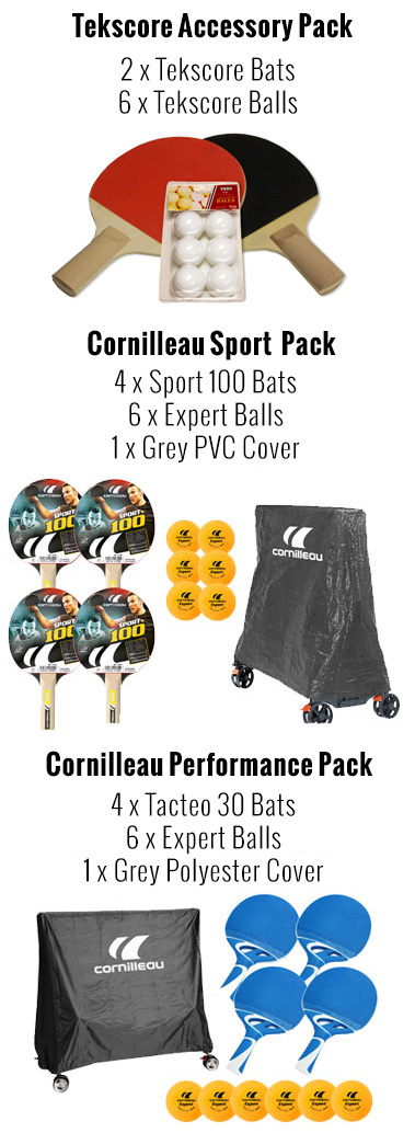 Cornilleau accessory packs