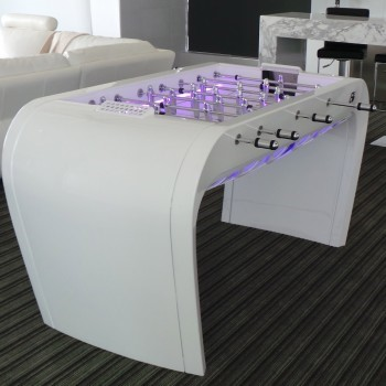The basin lighting option on the Toulet Blackball luxury pool table.