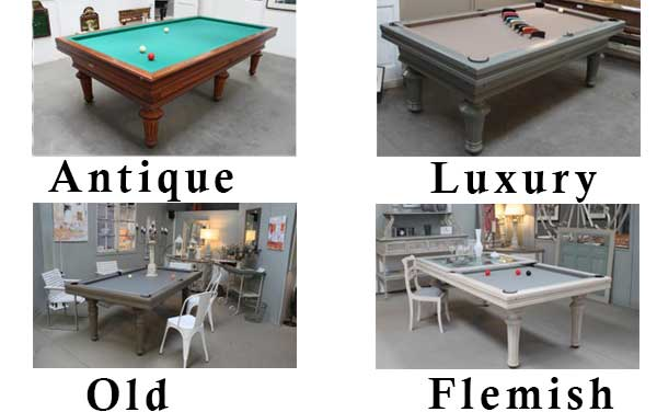 Patinated finishes for Toulet oak pool tables