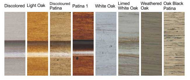Oak finish options for Toulet pool tables