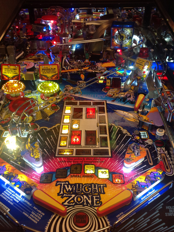 The Twilight Zone pinball machine playfield