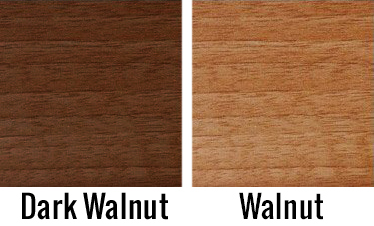 Swatch showing walnut finishes on Richmond pool table