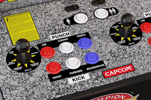 The Street-fighter 2 controls.