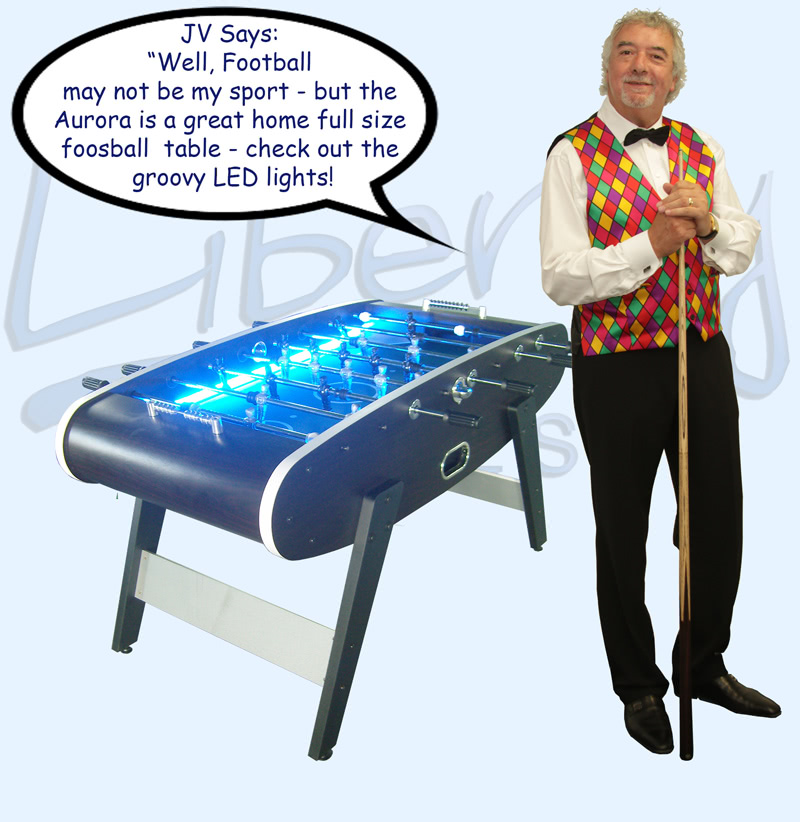 John Virgo endorses the Aurora football table
