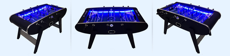 The Aurora produces striking blue light from its built-in LEDs