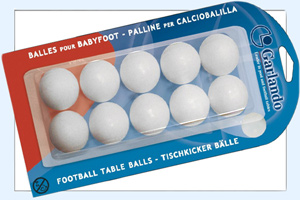 Spare balls supplied with the Garlando F-20