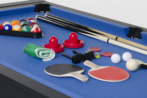 Free game accessories supplied with the 6ft Multi Games Table