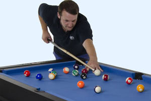 The 6ft Multi Games pool table gives a great game