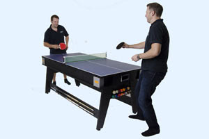 The 6ft Multi Games table with tennis table top