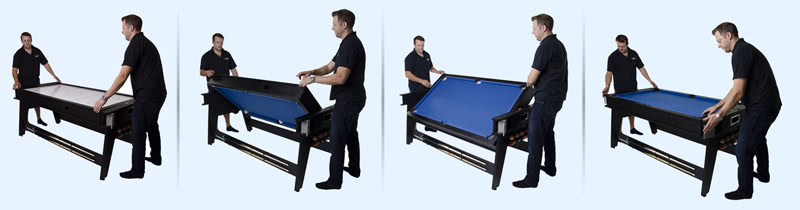 The 6ft Multi Games table rotates quickly and easily