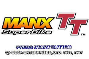 The Sega Manx TT start screen