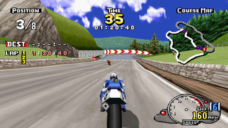 A screenshot from Sega Manx TT