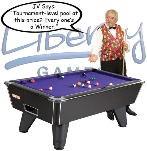 John Virgo endorses the Supreme Winner pool table