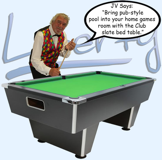 John Virgo endorses the Club pool table